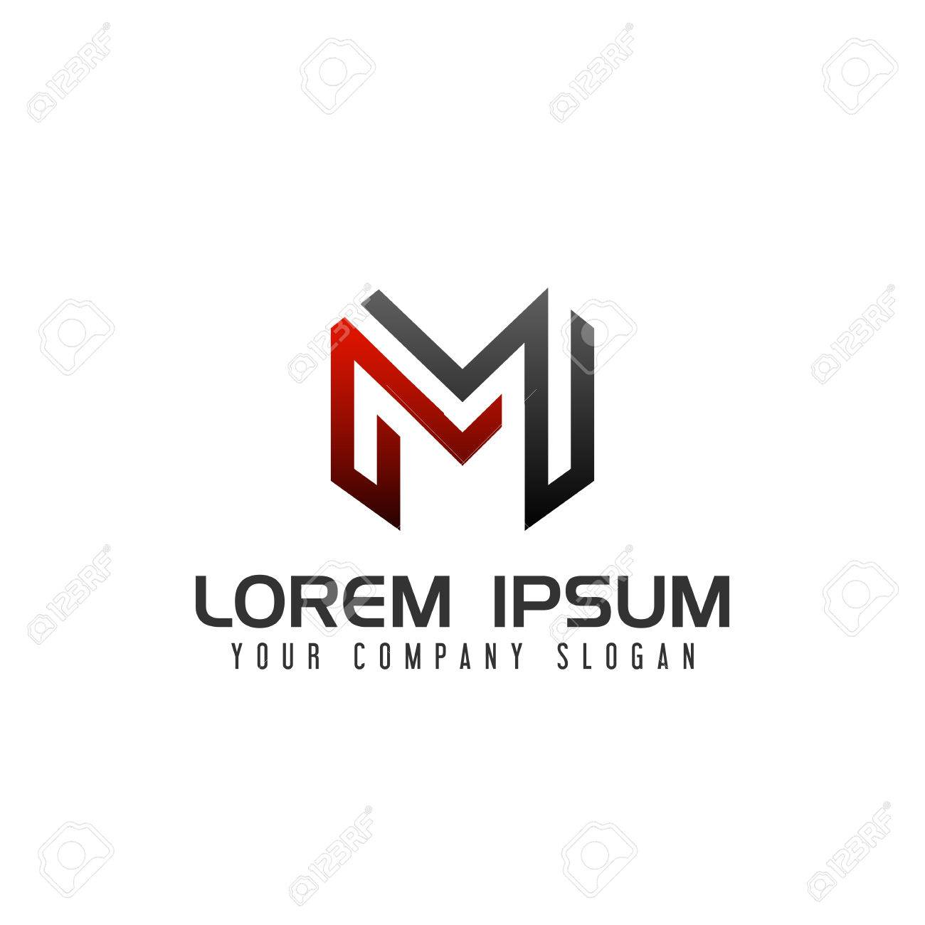 Modern Letter M Logo Design Concept Template Royalty Free Cliparts - Free modern logo templates