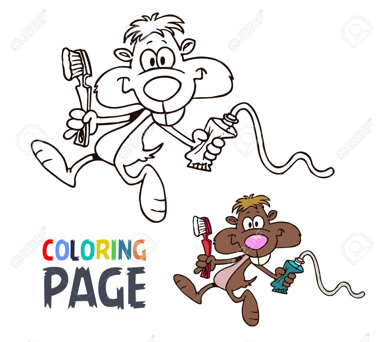 Dibujos Para Colorear Del Ratón Ilustraciones Vectoriales, Clip Art ...