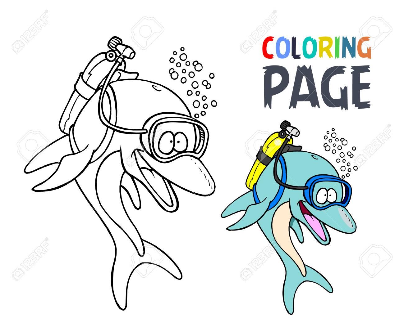 Vistoso Delfines Miami Para Colorear Viñeta - Enmarcado Para ...
