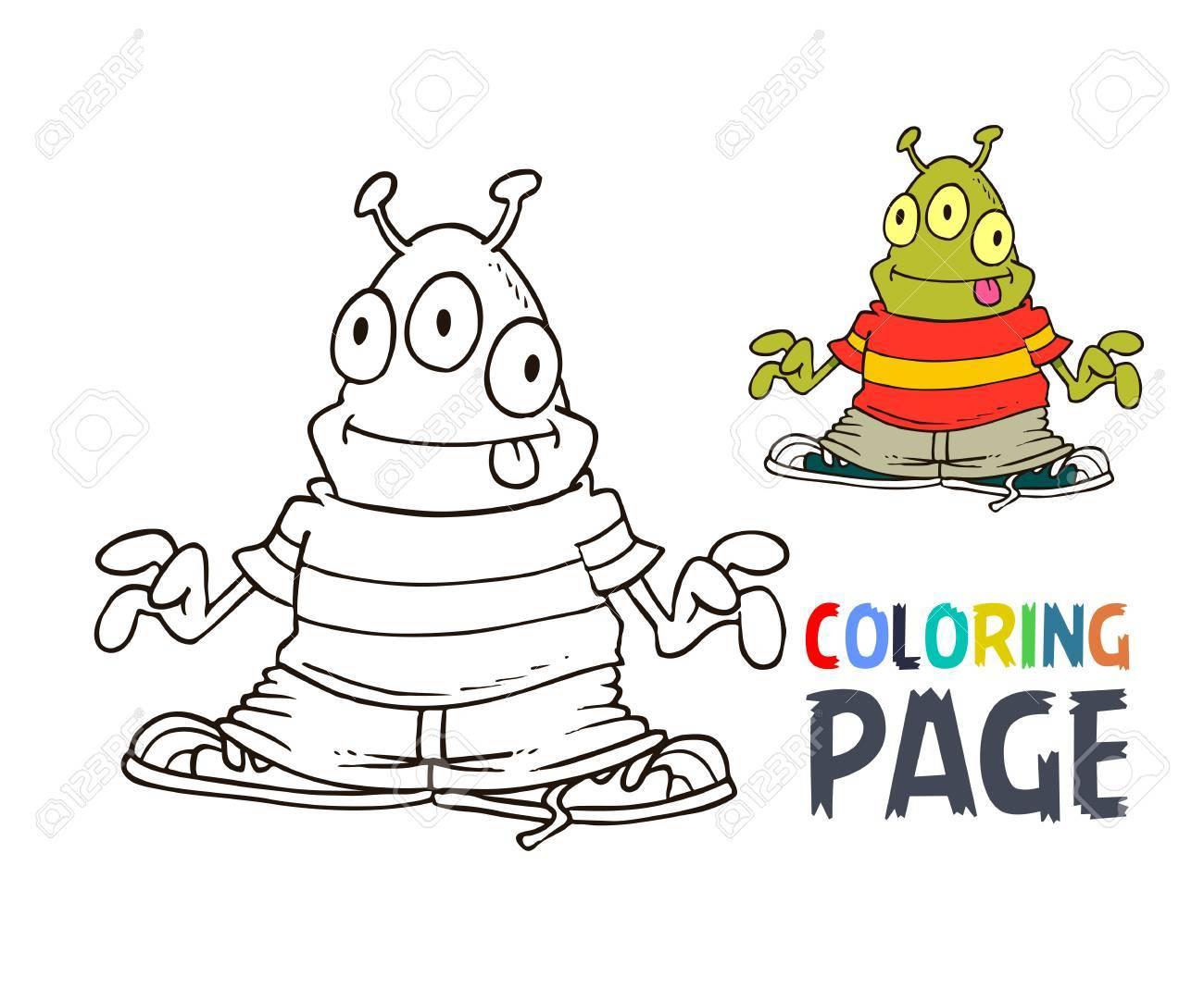 Dibujos Para Colorear Alienígena Ilustraciones Vectoriales, Clip Art ...
