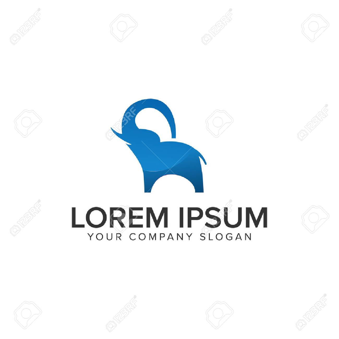 modern elephant Logo design concept template - 86157322