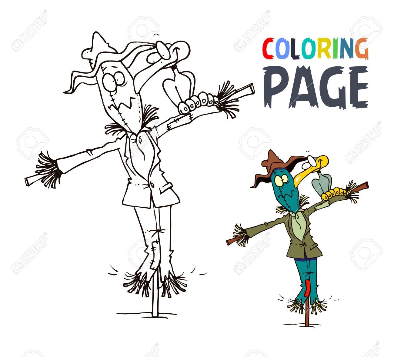 Dibujo De Espantapájaros Y Dibujos De Aves Para Colorear ...