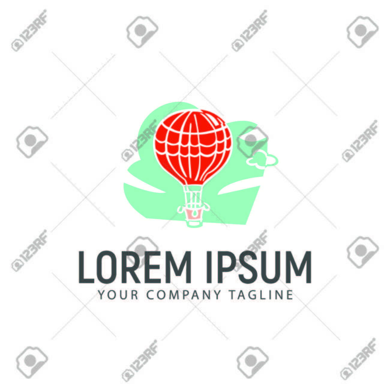 Heißluftballon-Logo-Design-Konzept-Vorlage Lizenzfrei Nutzbare ...