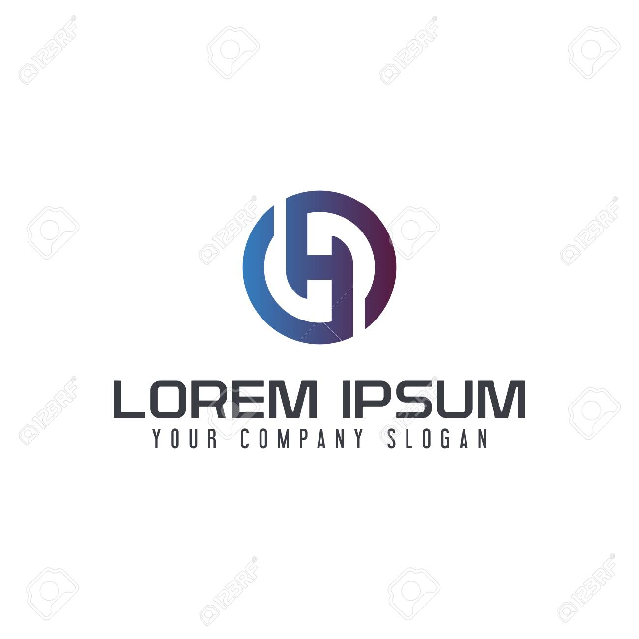 Letter H logo design concept template - 88417486