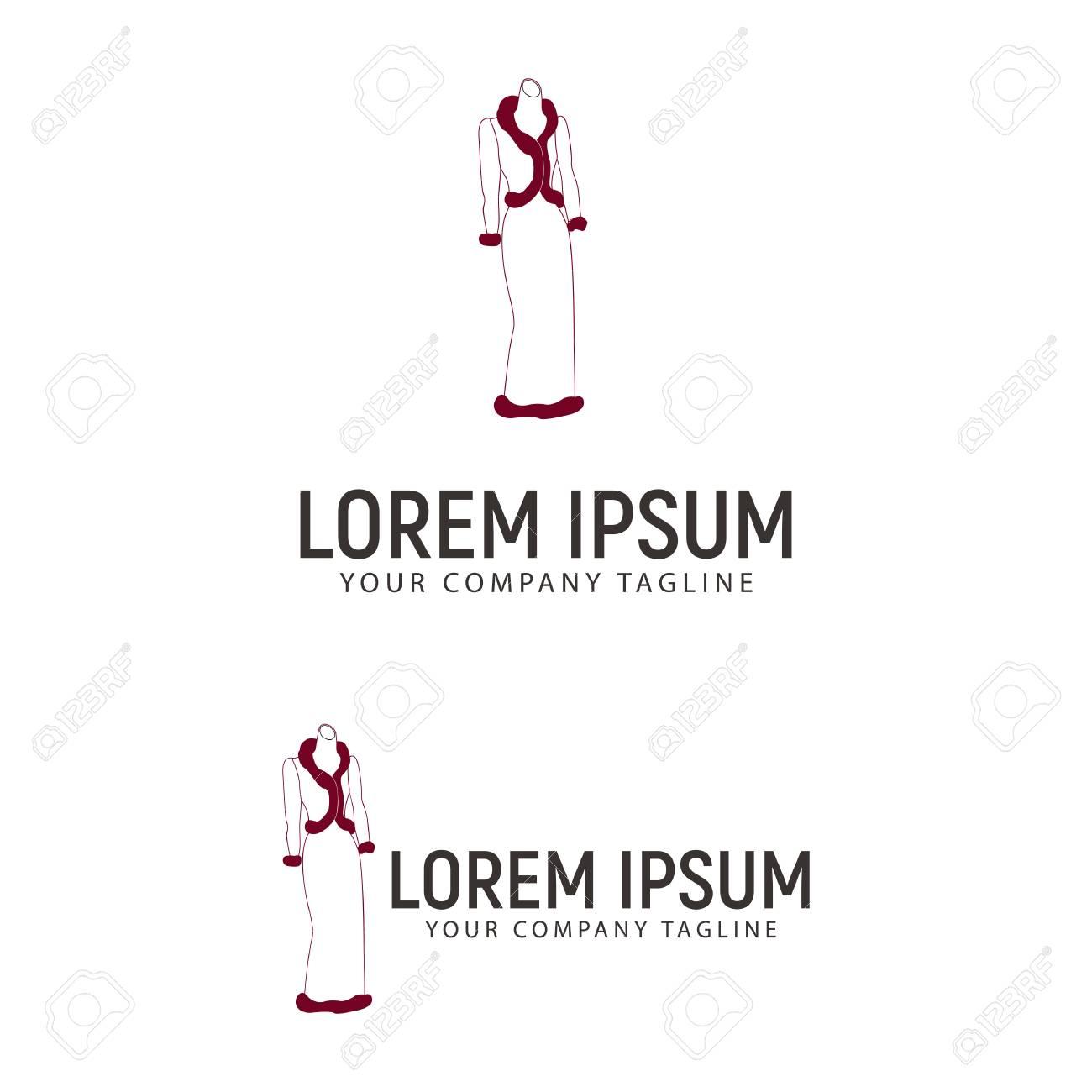 A Women Fashion Logo Design Concept Template Royalty Free Cliparts