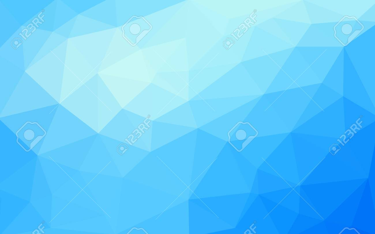 light blue vector low poly crystal background polygon design