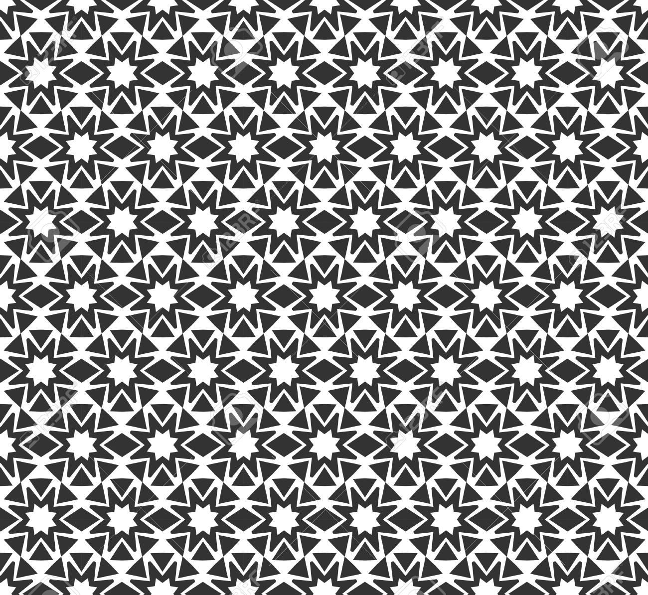 3b3371ea02decd Abstract geometrisch naadloos patroon. Herhalende geometrische zwart-witte  textuur. Stockfoto - 92731090