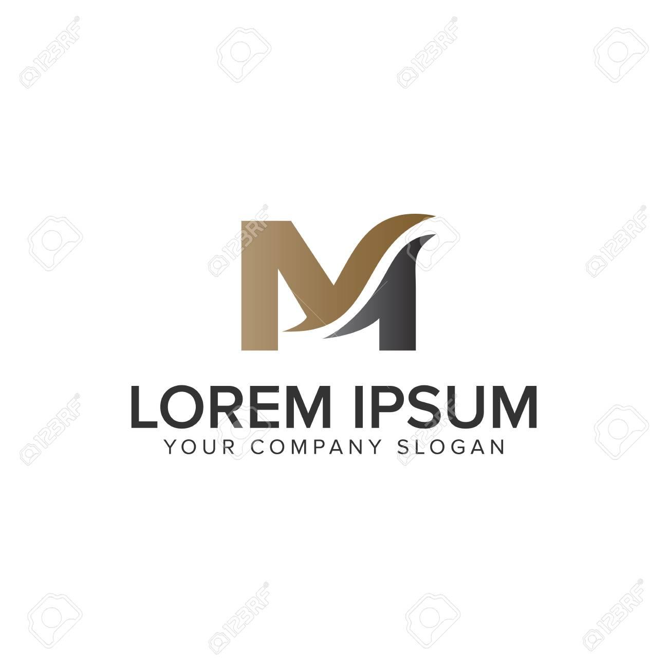 Letter M business logo design concept template. fully editable vector - 94985875