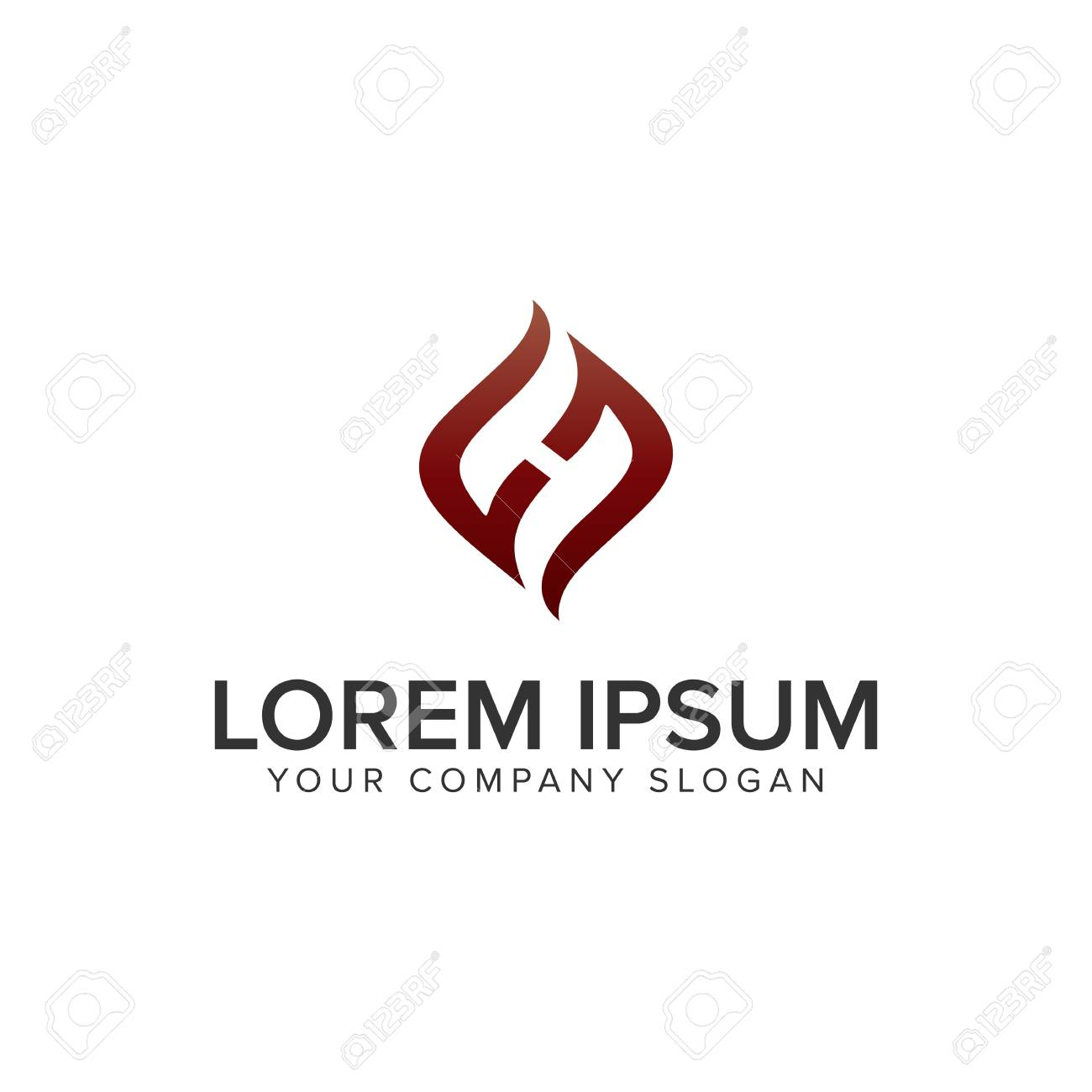 letter h creative unique logo design concept template fully