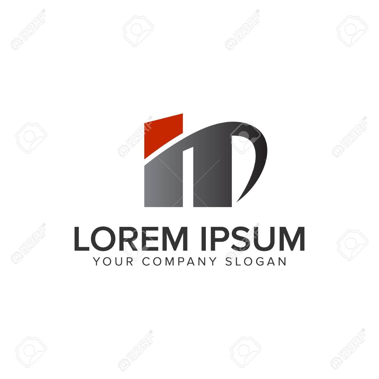 creative modrn letter n logo design concept template stock vector 95607177