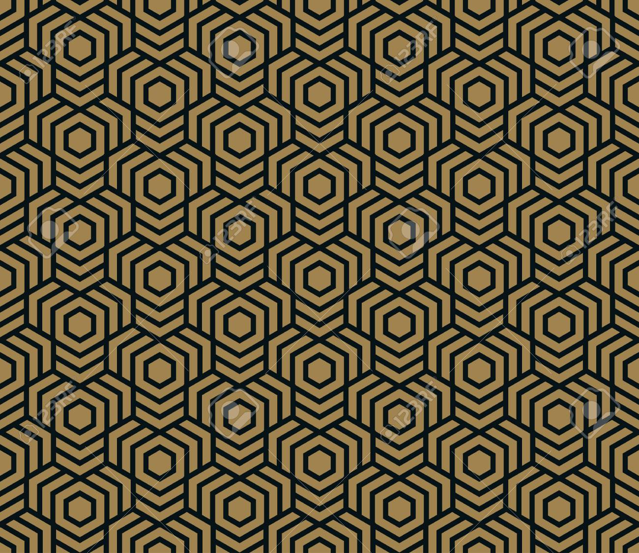 Seamless pattern. Elegant linear ornament. Geometric stylish background. Vector repeating texture - 101114335
