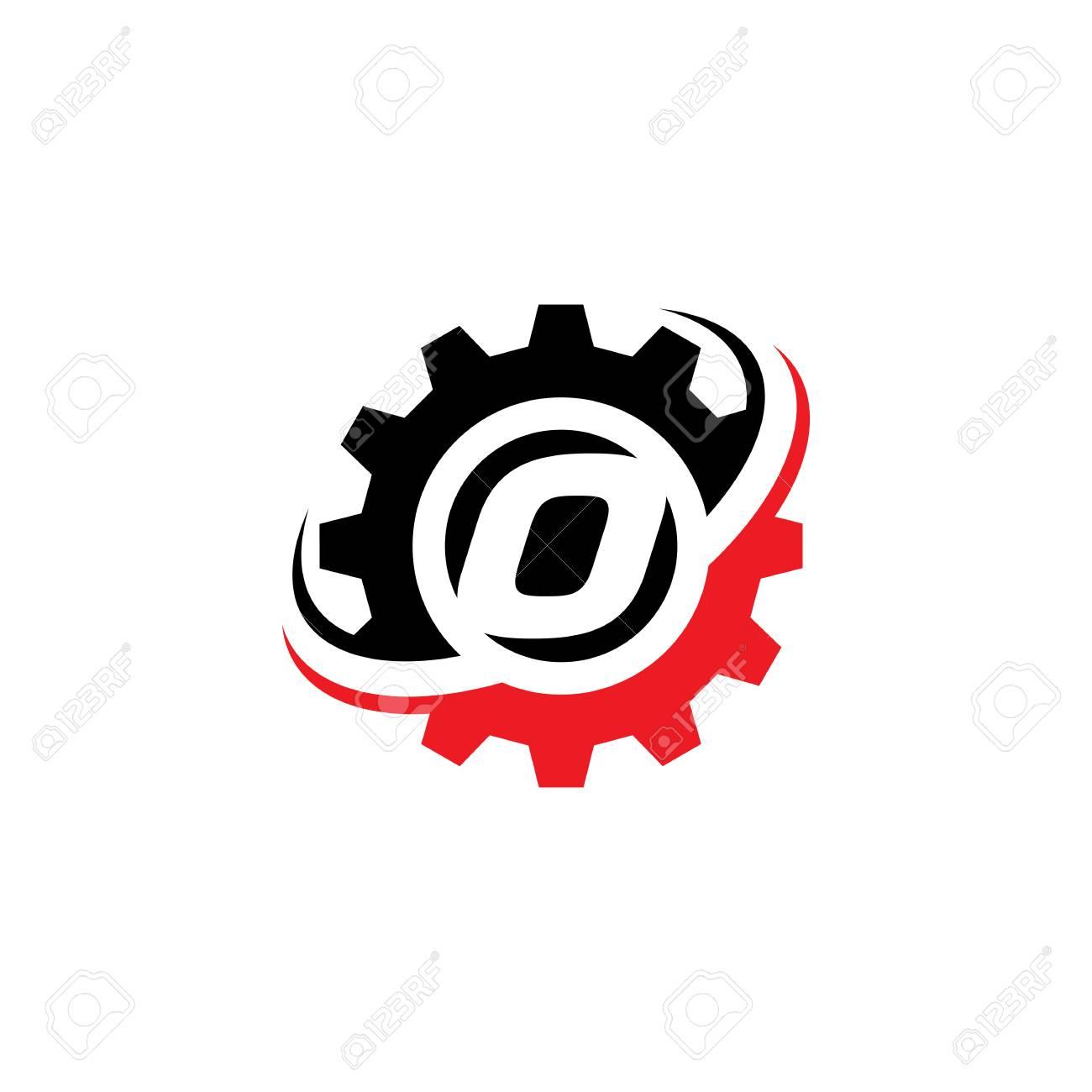 Letter O Gear Logo Design Template - 105107430
