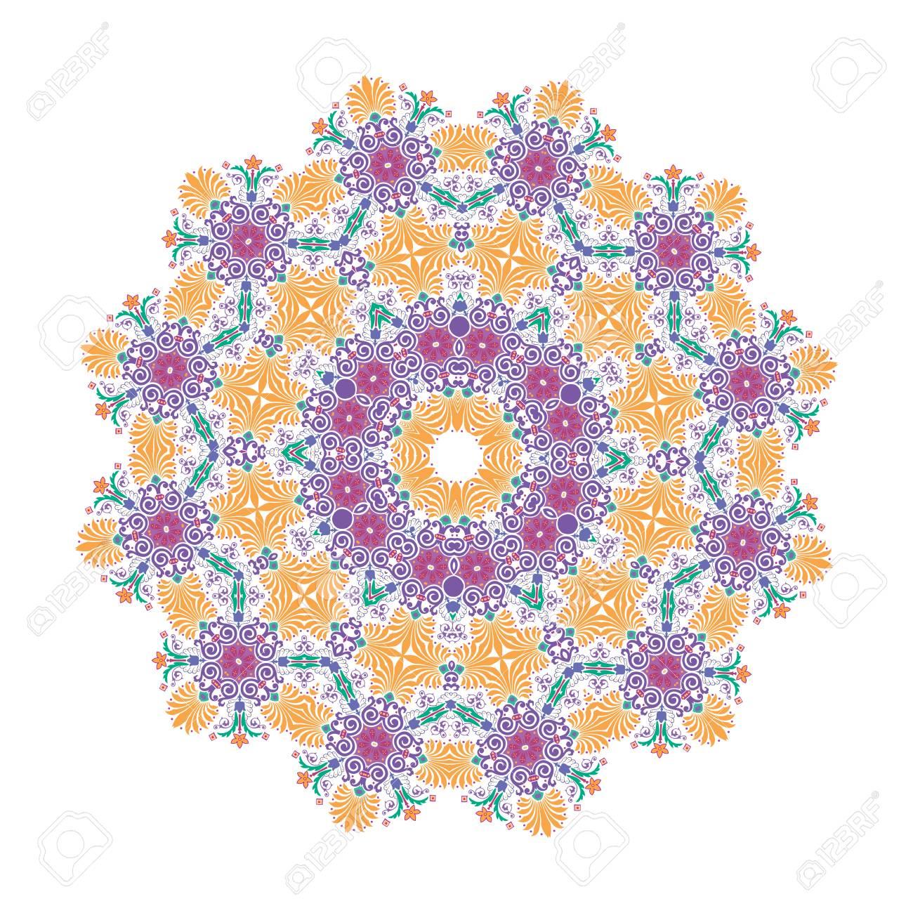 Mandala, Vector Mandala, floral mandala, flower mandala, oriental mandala, coloring mandala. Oriental pattern, vector illustration. Islam, Arabic, Indian, turkish, pakistan, chinese, ottoman motifs - 114709823