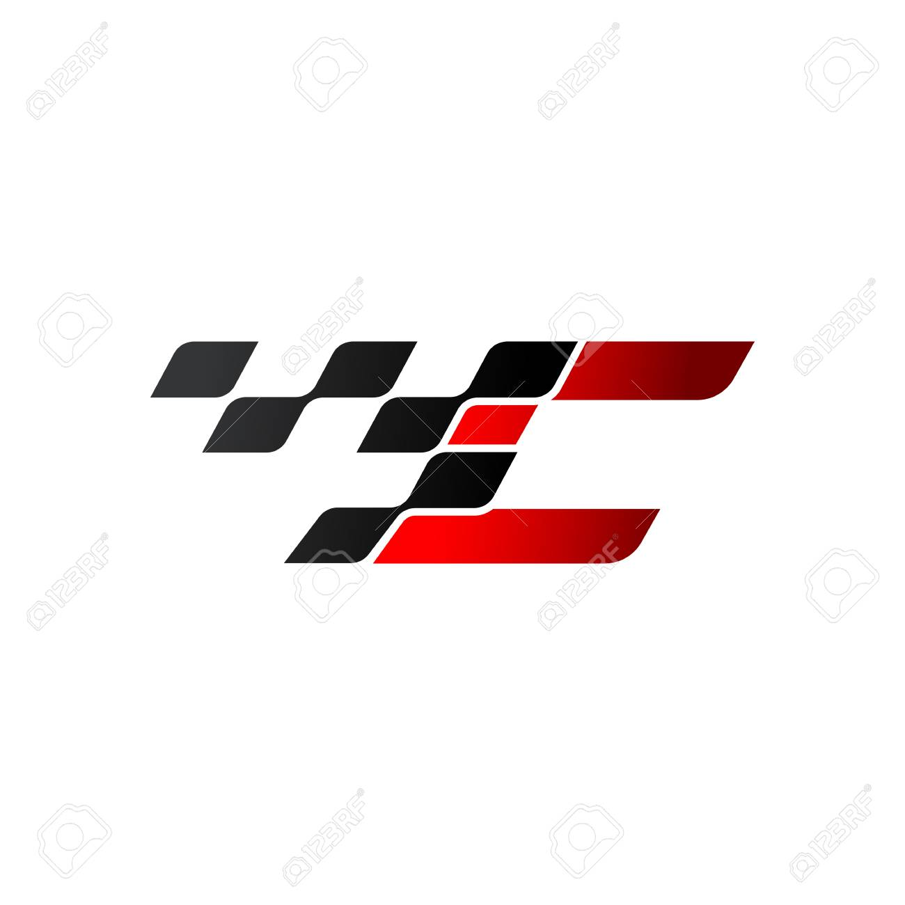 Letter C with racing flag logo - 105838579