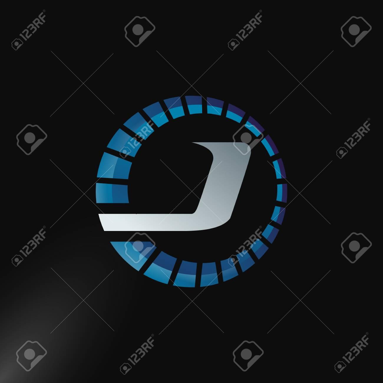 Speed Logo with letter J, letter J tachometer logo Vector Template Design - 106062511
