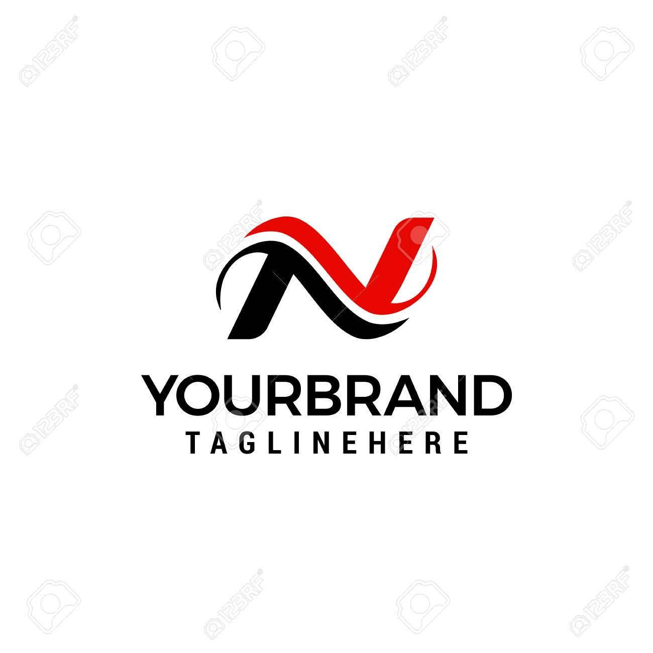 Logo for letter N design concept template - 108611184