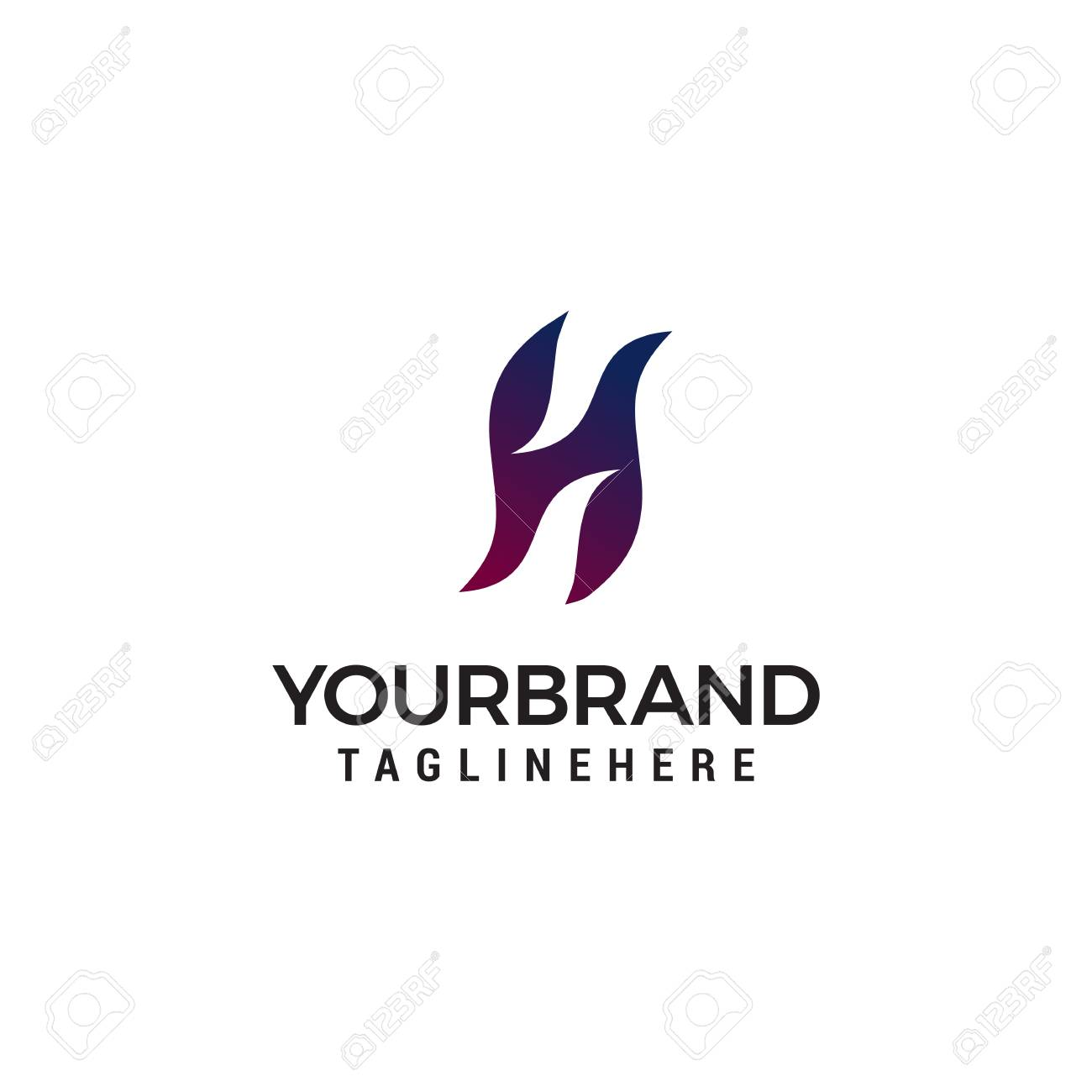79e6644bd323 Letter H Logo Icon Design Template Elements Royalty Free Cliparts ...