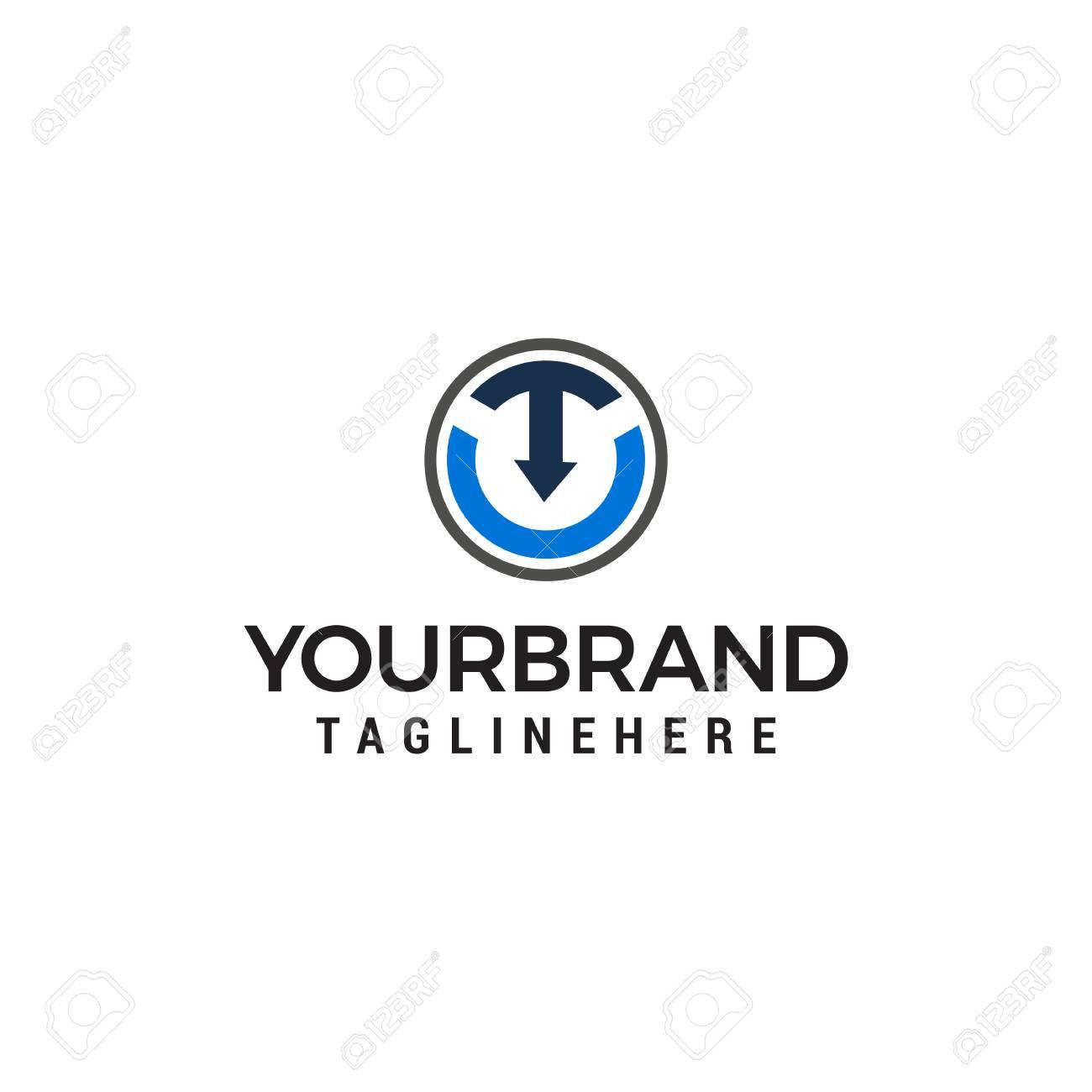 letter t arrow logo design concept template vector - 122374071
