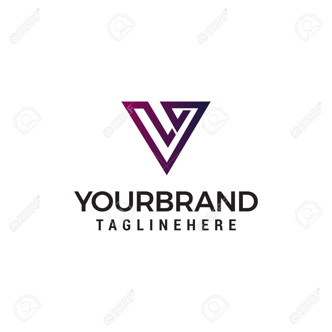 letter v abstract logo design concept template vector - 123217089