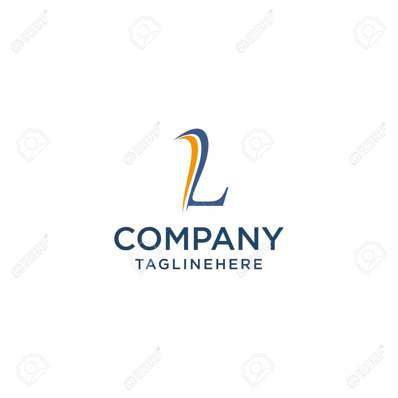 letter L luxury swoosh corporate logo design concept template - 129613619