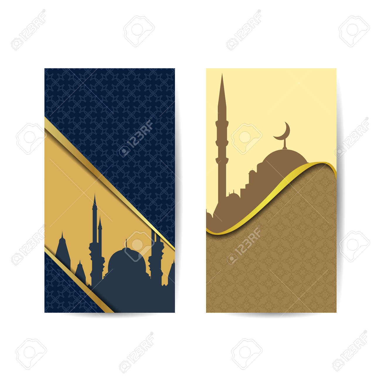 illustration of mosque for wallpaper, banner, card vector design template. islamic background banner - 165978252