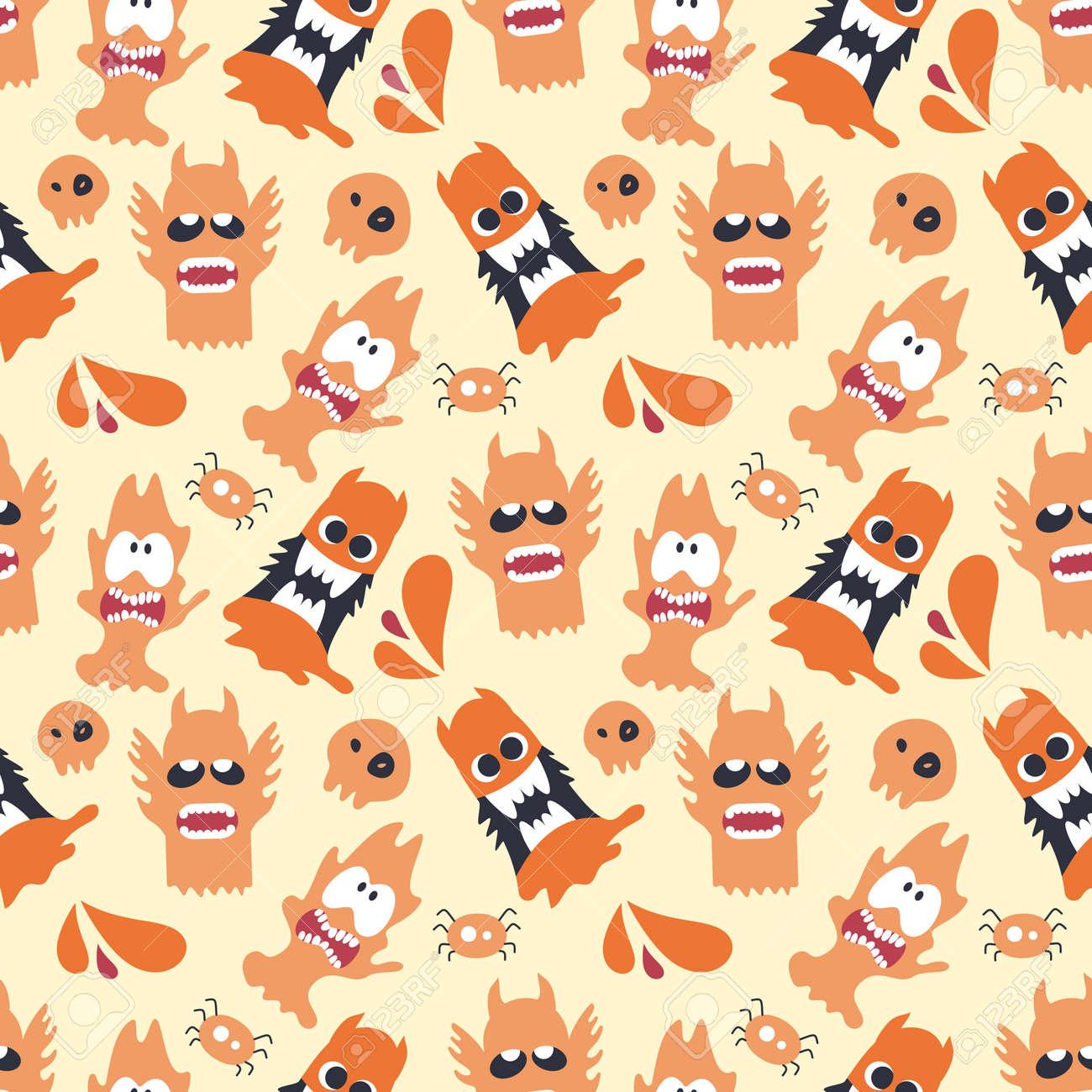 monster seamless pattern design. vector illustration - 167718280