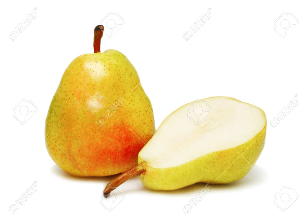 Two ripe pear isolated on white background Stock Photo - 7584771