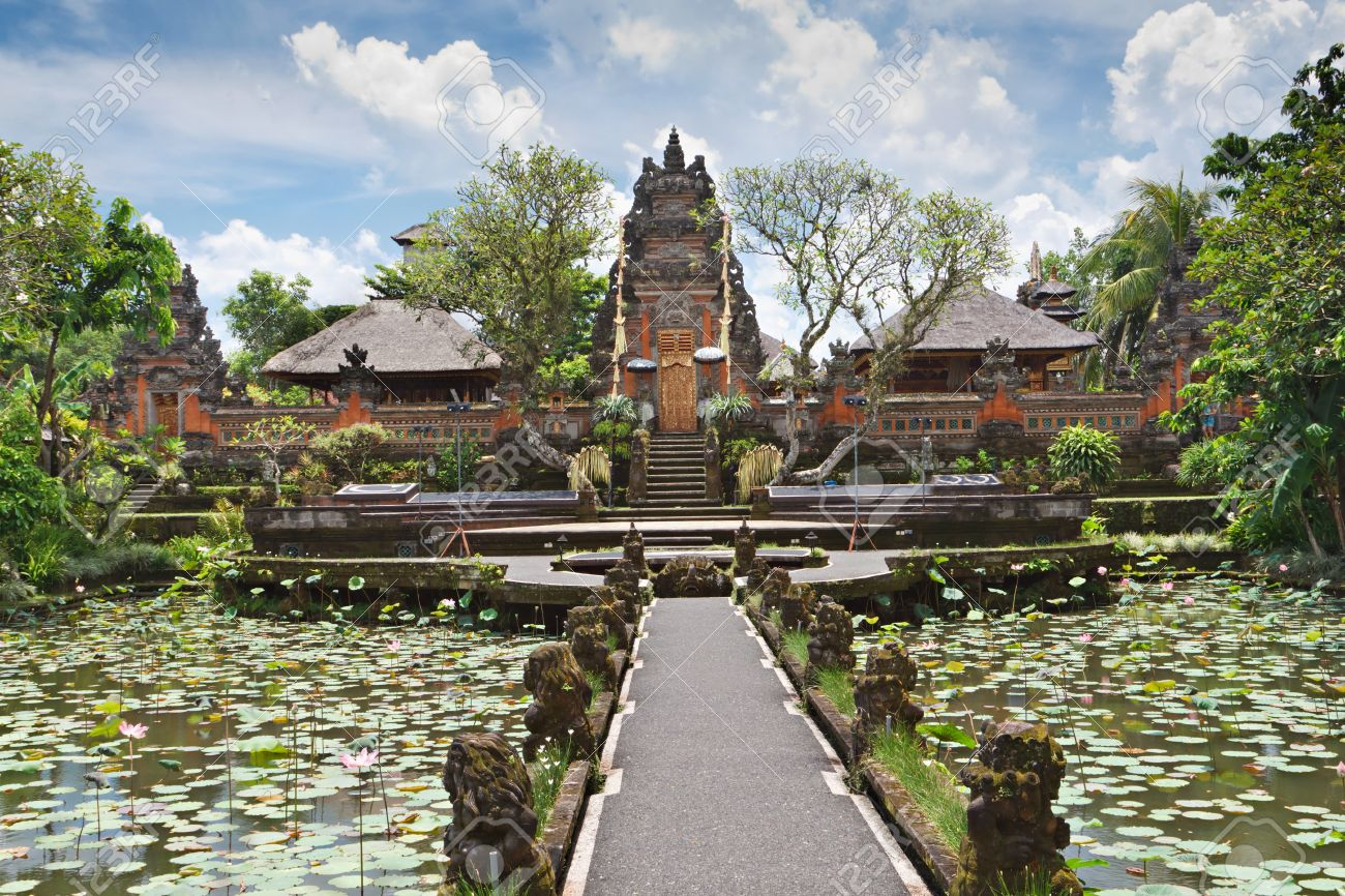 Pura Saraswati Temple At The Lovey Village Of Ubud Bali Indonesia Stock Photo Picture And Royalty Free Image Image 10085752