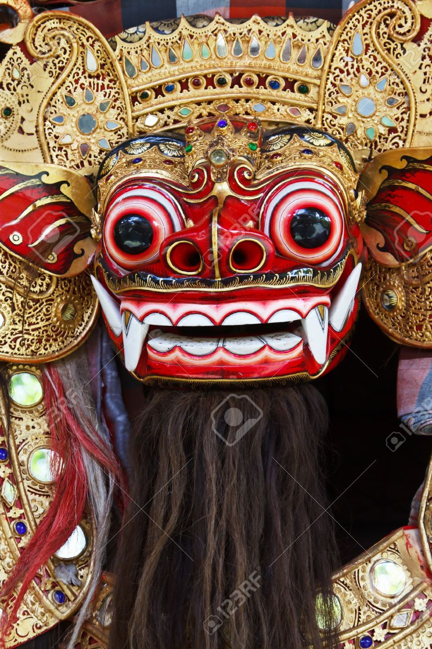 Barong the benevolent beast that scares bad spirits away Bali Stock Photo - 10085680