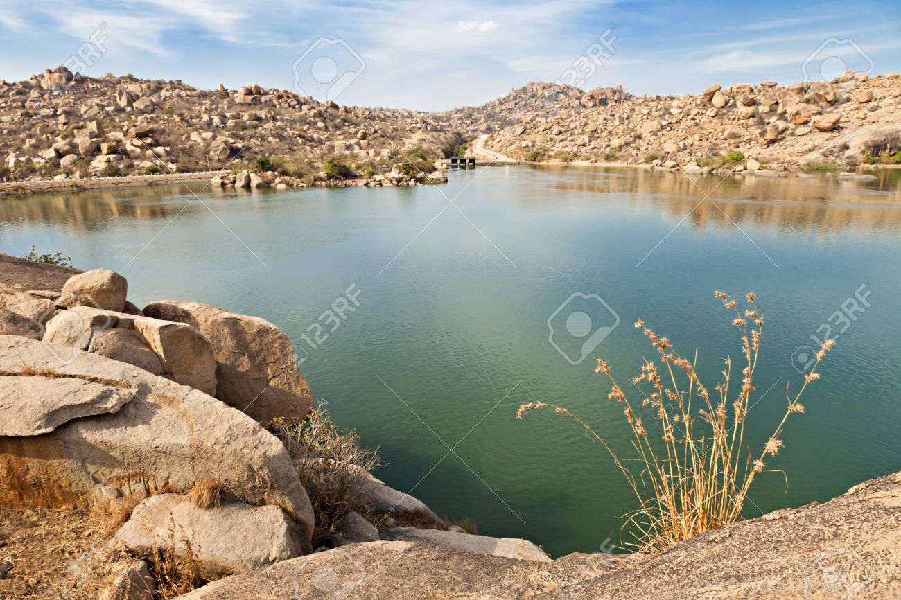 Beauty lake in Hampi, Karnataka, India Stock Photo - 15603620
