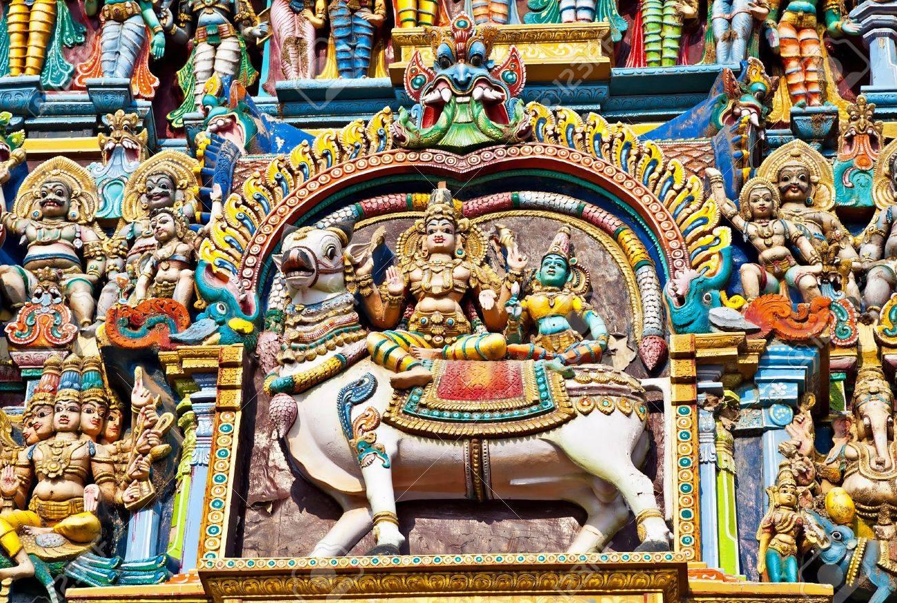 Relief of Menakshi Temple, Madurai, Tamil Nadu, India Stock Photo - 17857807