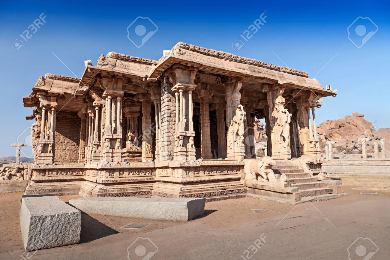 Palace at Vittala temple at Hampi, India Stock Photo - 22100636