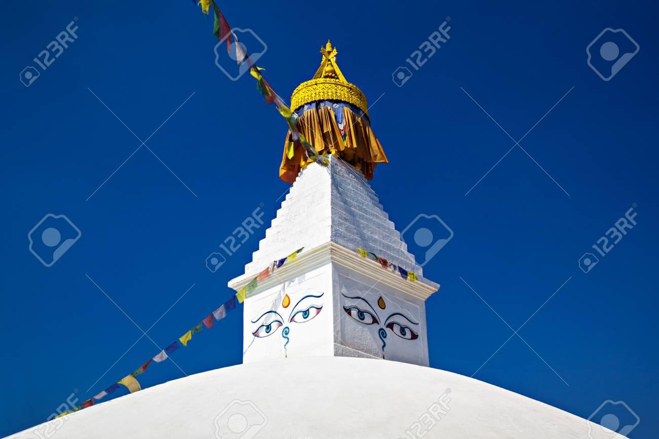 Boudhanath stupa is one of the holiest Buddhist sites in Kathmandu, Nepal. Stock Photo - 22100648