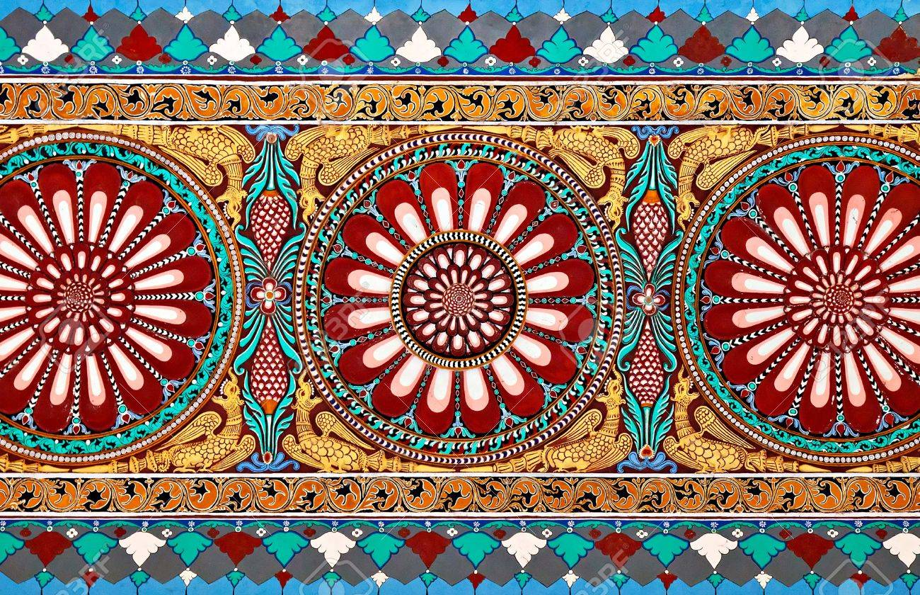 AGRA, INDIA - MARCH 23: Pattern on Taj Mahal on March 23, 2012 in Agra, India. Taj Mahal is widely recognized as the jewel of Muslim art and one of the universally masterpieces of the world Stock Photo - 22100906