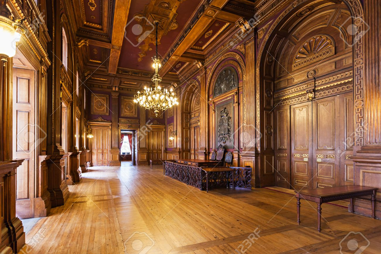 Porto, Portugal - 30. JUNI: Dekor Im Palacio Da Bolsa (Börse Palace ...