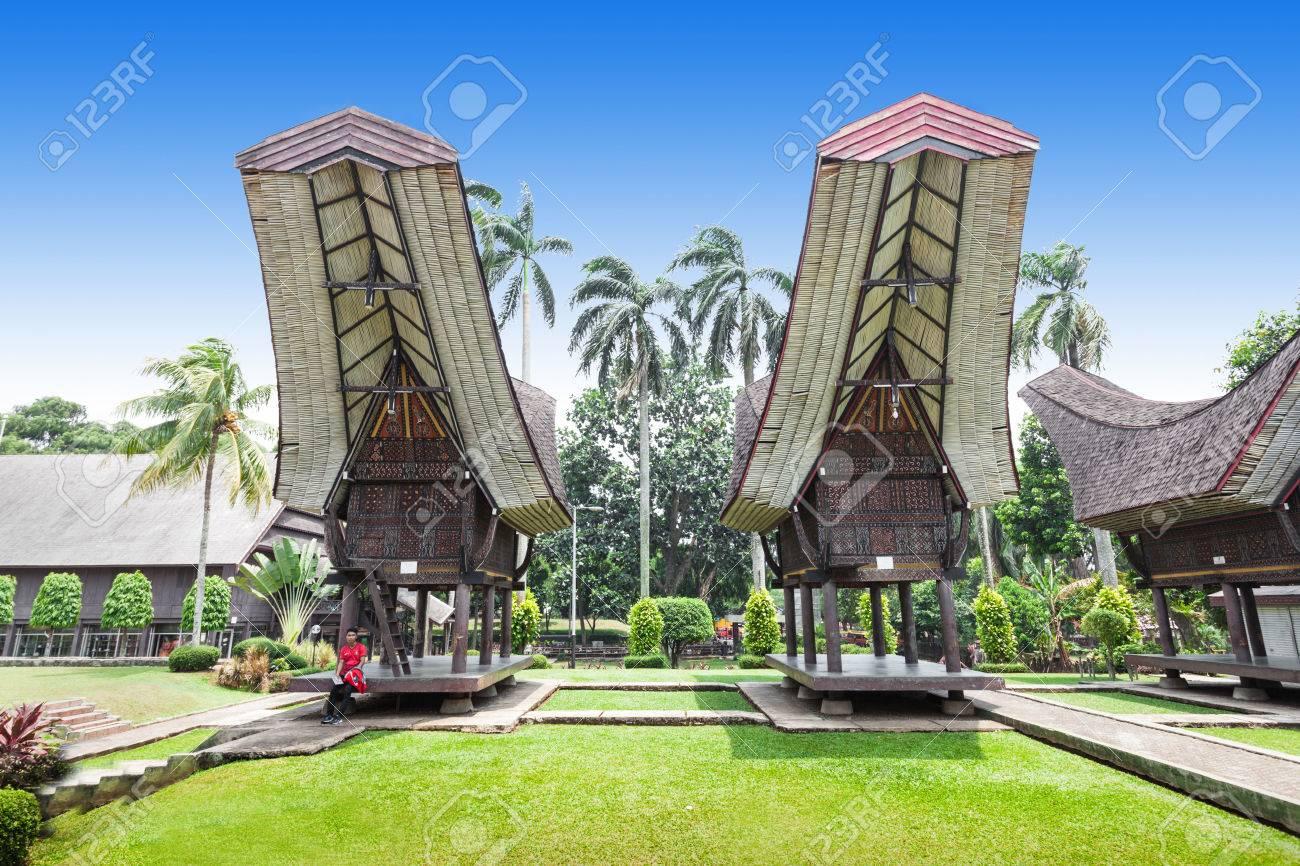 sulawesi pavillon dans le mini indonésie parc taman banque d'images