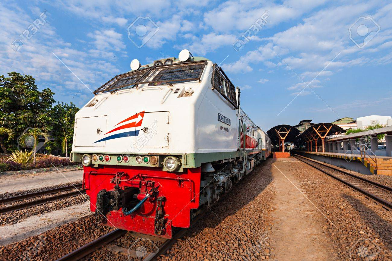 Indonesian train near Jogjakarta train station | 123rf