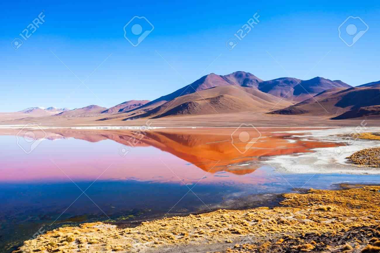 ラグナ ・ コロラダ意味レッド湖はボリビアのアルティプラーノの南西の ...