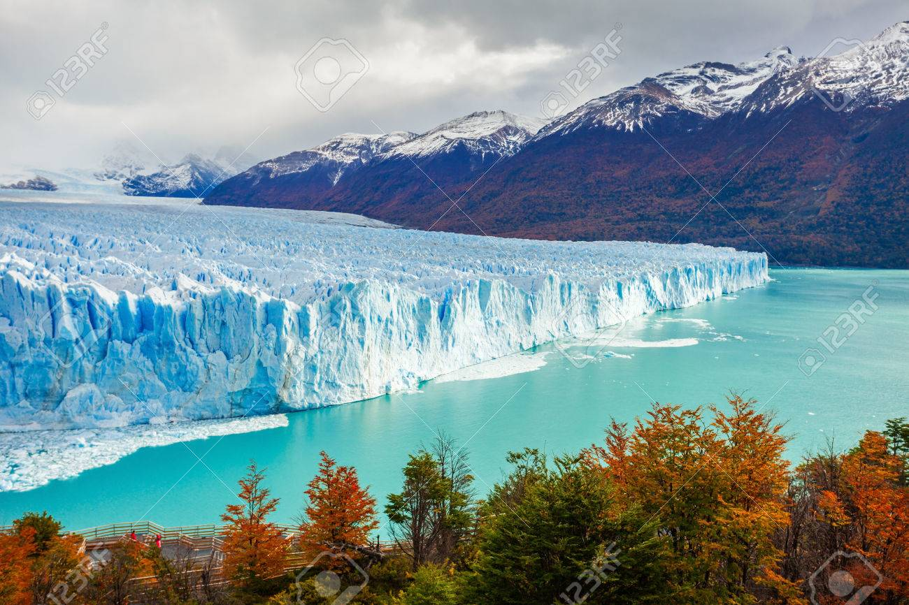 The Perito Moreno Glacier is a glacier located in the Los Glaciares National Park in Santa Cruz Province, Argentina. Its one of the most important tourist attractions in the Argentinian Patagonia. - 63339753