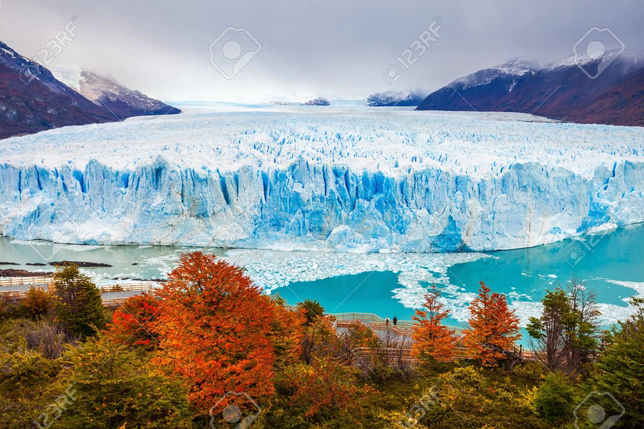 The Perito Moreno Glacier is a glacier located in the Los Glaciares National Park in Santa Cruz Province, Argentina. Its one of the most important tourist attractions in the Argentinian Patagonia. - 63339758