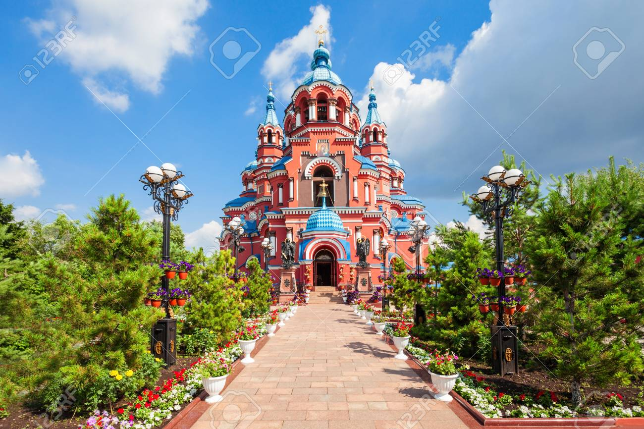 Cathedral of the Kazan Icon of the Mother of God in the city center of Irkutsk, Russia - 67007857