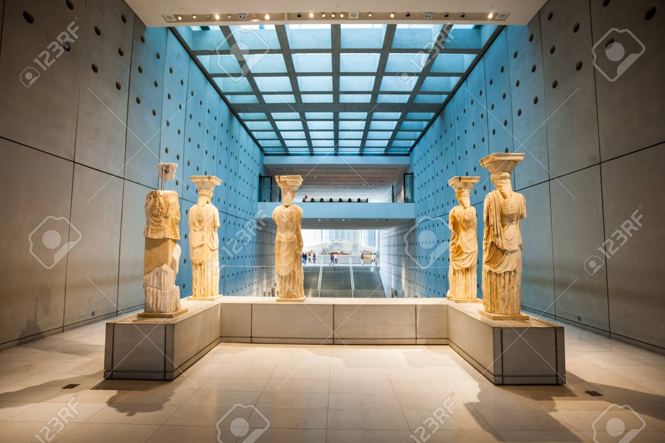 ATHENS, GREECE - OCTOBER 19, 2016: The Acropolis Museum is an archaeological museum focused on the findings of the archaeological site of the Acropolis of Athens in Greece. - 79118977