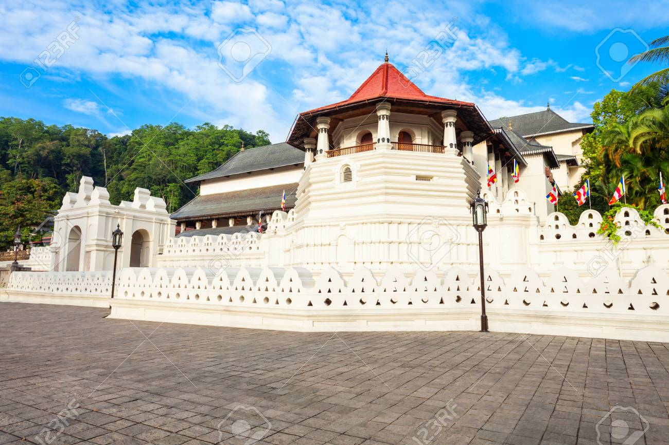 Temple of the Sacred Tooth Relic or Sri Dalada Maligawa in Kandy, Sri Lanka. Sacred Tooth Relic Temple is a Buddhist temple located in the royal palace complex of the Kingdom of Kandy. - 89339373