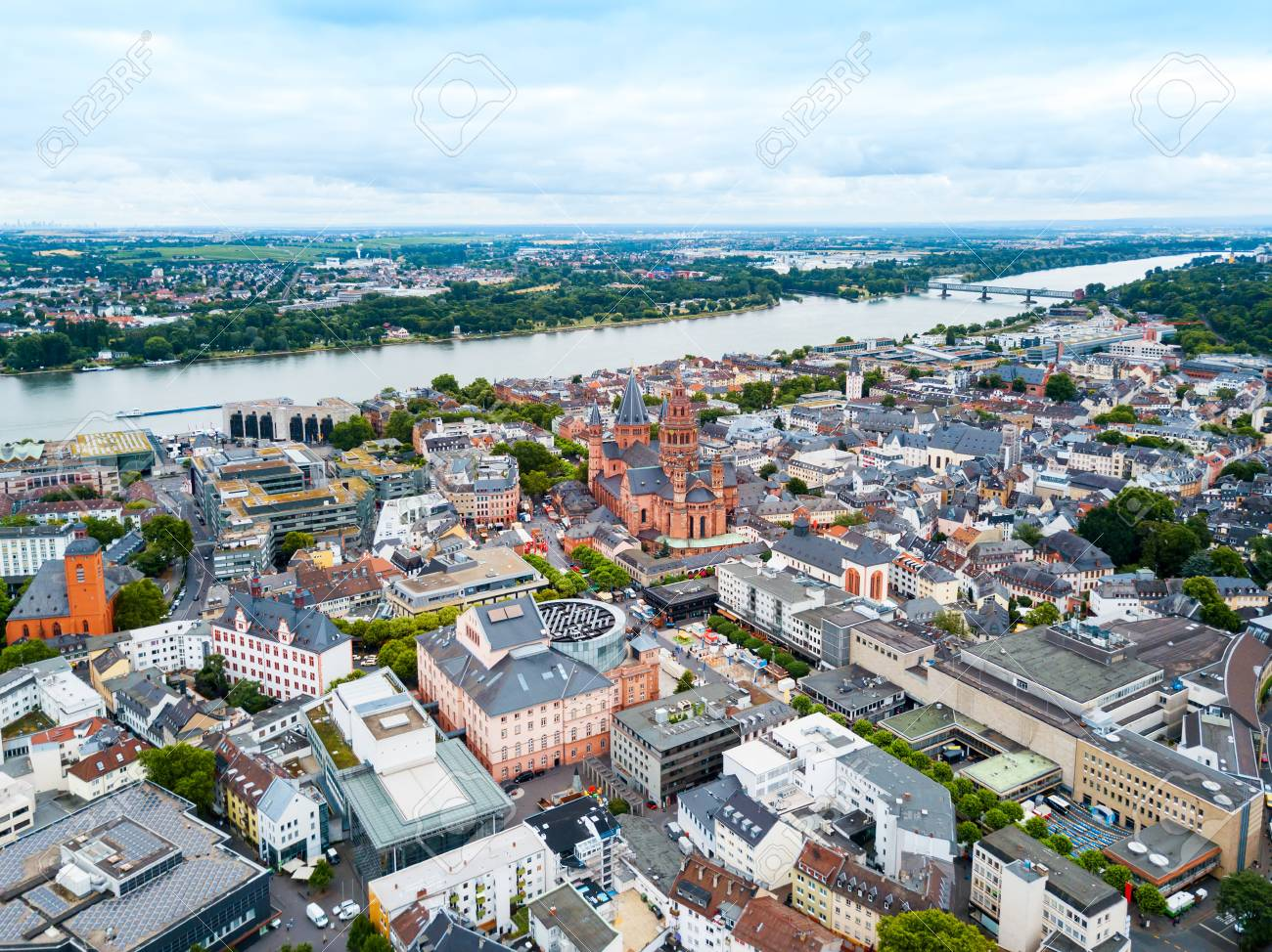Mainz Cathedral Aerial Panoramic View, Located At The Market Square Of Mainz  City In Germany Stock Photo, Picture And Royalty Free Image. Image  112239366.