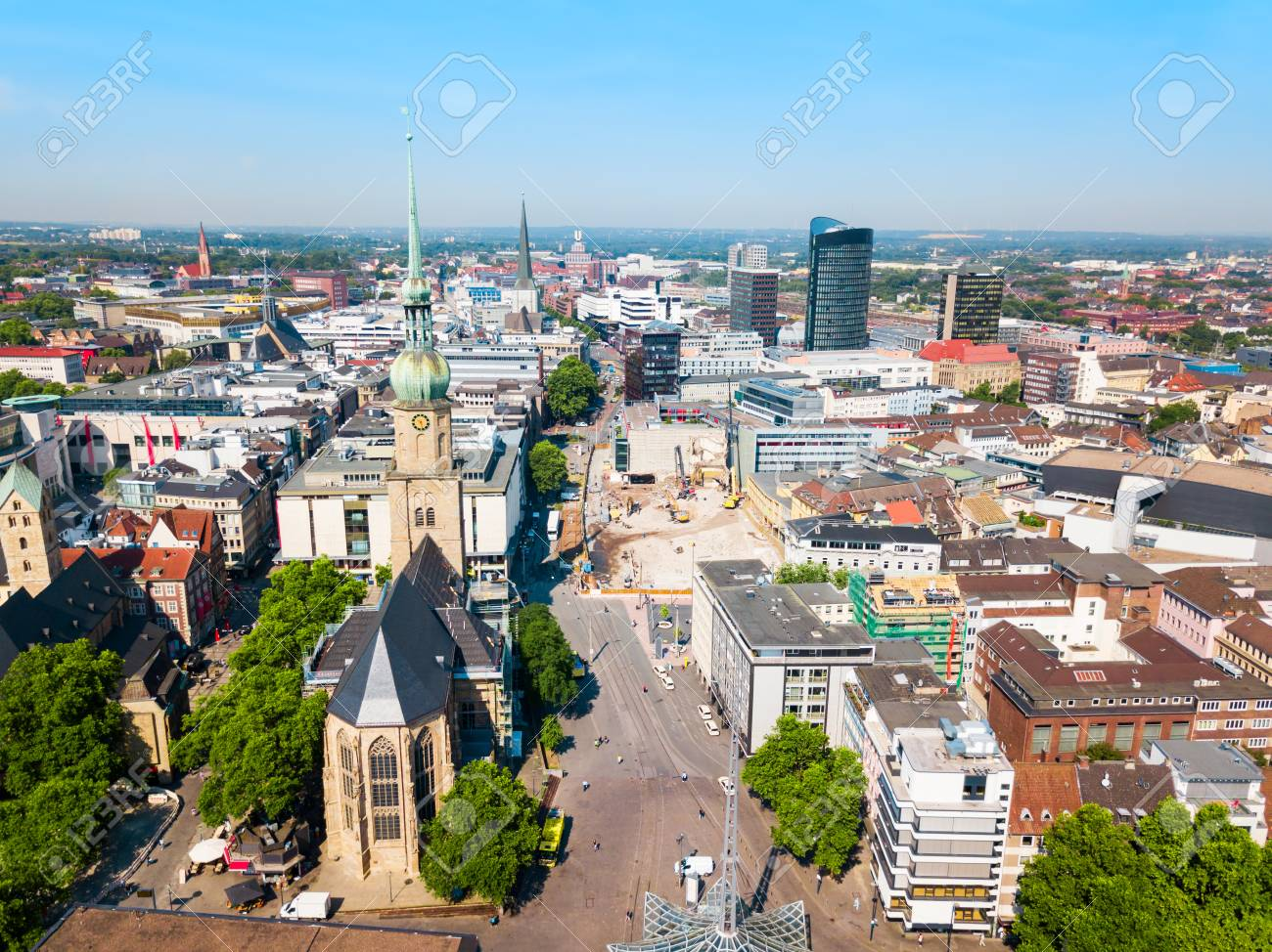 Dortmund City Centre Aerial Panoramic View In Germany Stock Photo, Picture  And Royalty Free Image. Image 112241024.