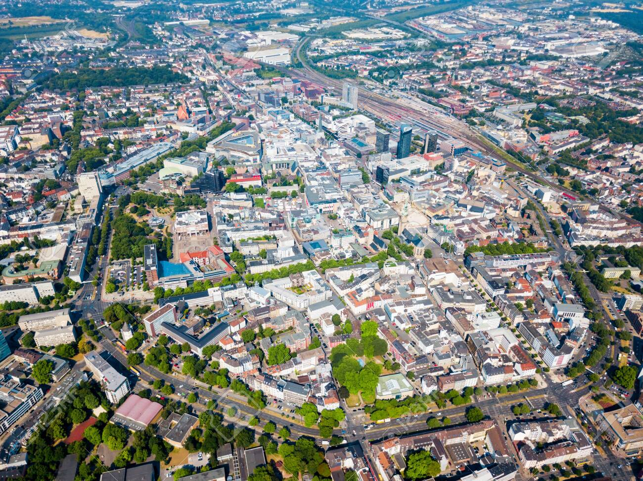 Dortmund City Centre Aerial Panoramic View In Germany Stock Photo, Picture  And Royalty Free Image. Image 122423794.