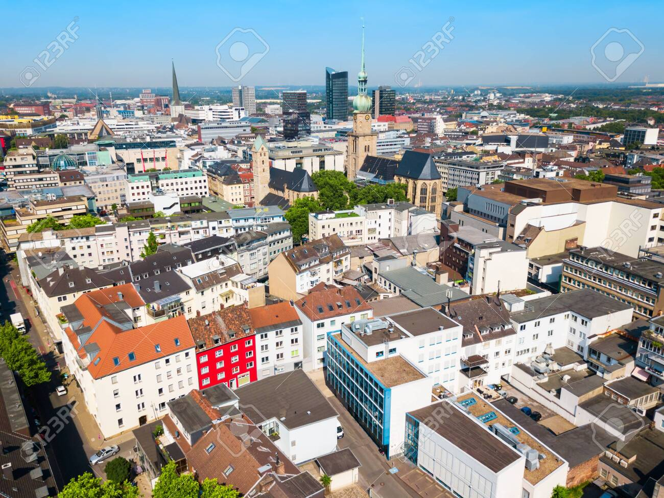 Dortmund City Centre Aerial Panoramic View In Germany Stock Photo, Picture  And Royalty Free Image. Image 120074117.