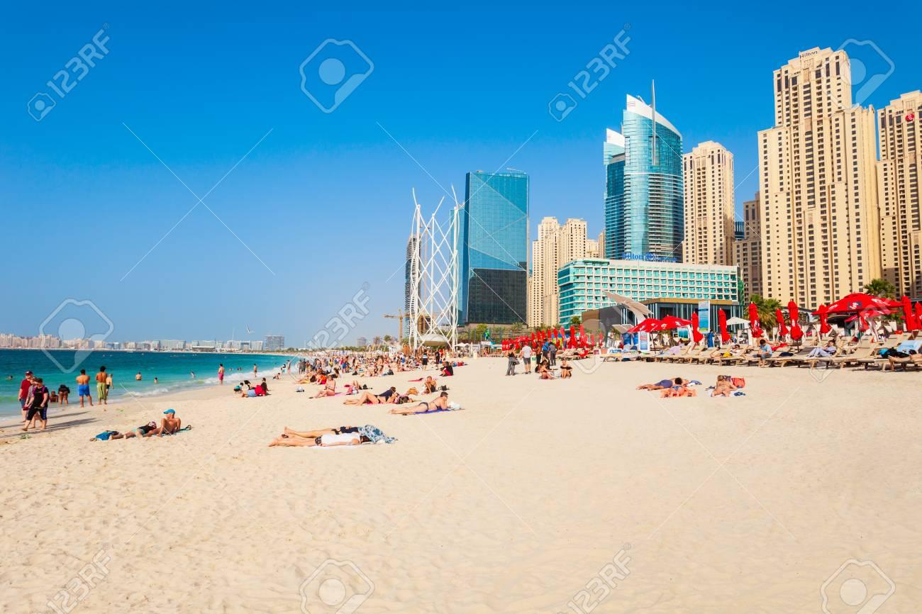 DUBAI, UAE - FEBRUARY 25, 2019: JBR or Jumeirah Beach Residence is a waterfront community located in Dubai Marina in UAE - 122441869