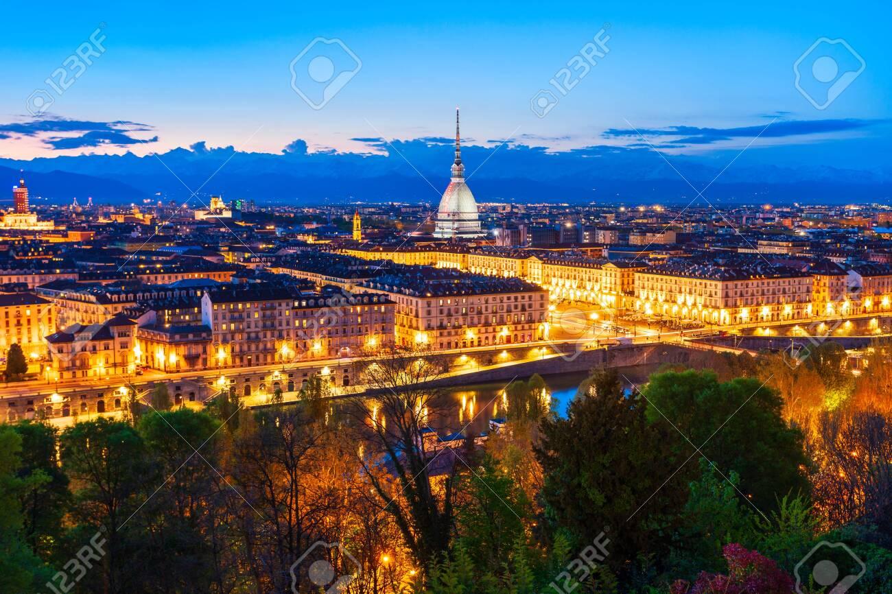 Turin city aerial panoramic view, Piedmont region of Italy - 132060184