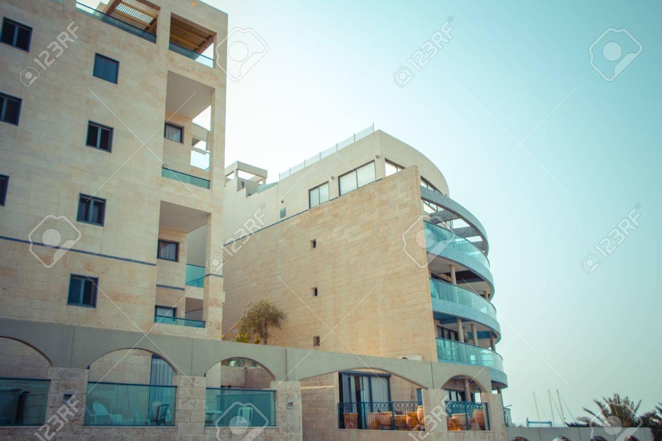 Coastal apartments in Israel. Ashkelon Stock Photo - 23388241